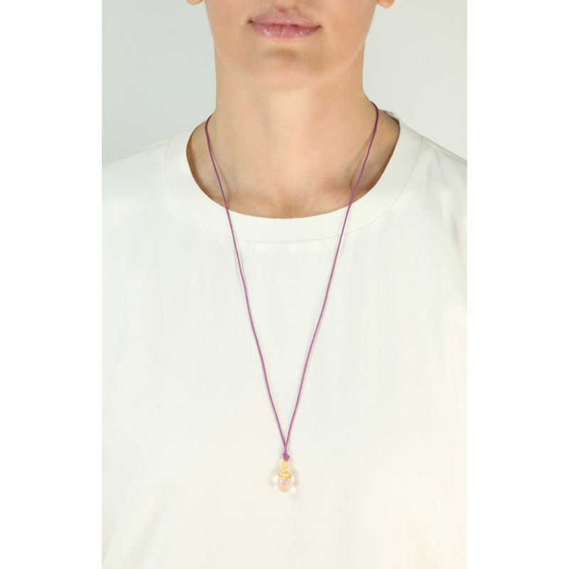 Flower Pendant Necklace Amethysts - product image