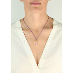 Flower Pendant Necklace Amethysts - product images 2 of 3