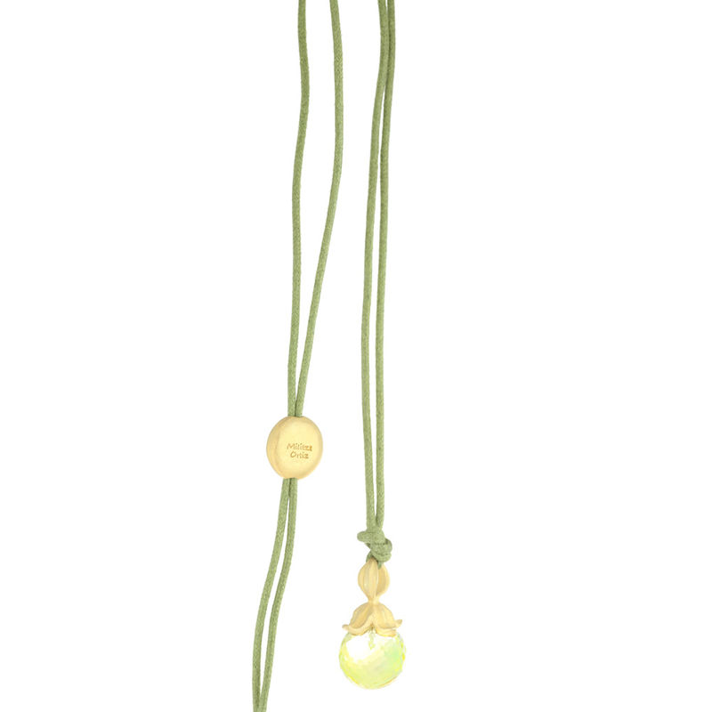Flower Pendant Necklace Lemon Quartz - product image