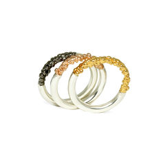 Trio,of,Organica,Rings,Jewellery, jewelry, Militza-Ortiz, ring, stacking rings, accessories, organica, organic, Women's, rose gold, gold, rhodium, silver,