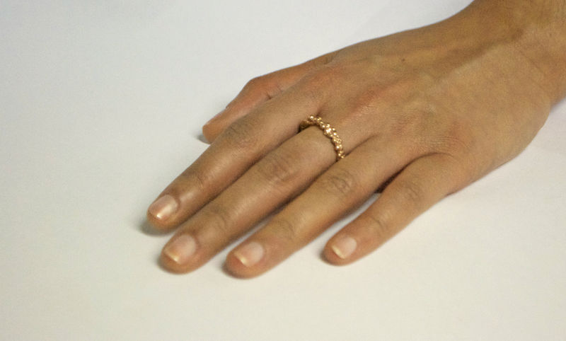 Rose Gold Organica Band Ring - product image
