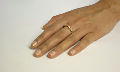 Rose Gold Organica Band Ring - product images 3 of 3