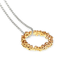 Organica Circle Pendant Necklace - Gold - product images 1 of 3
