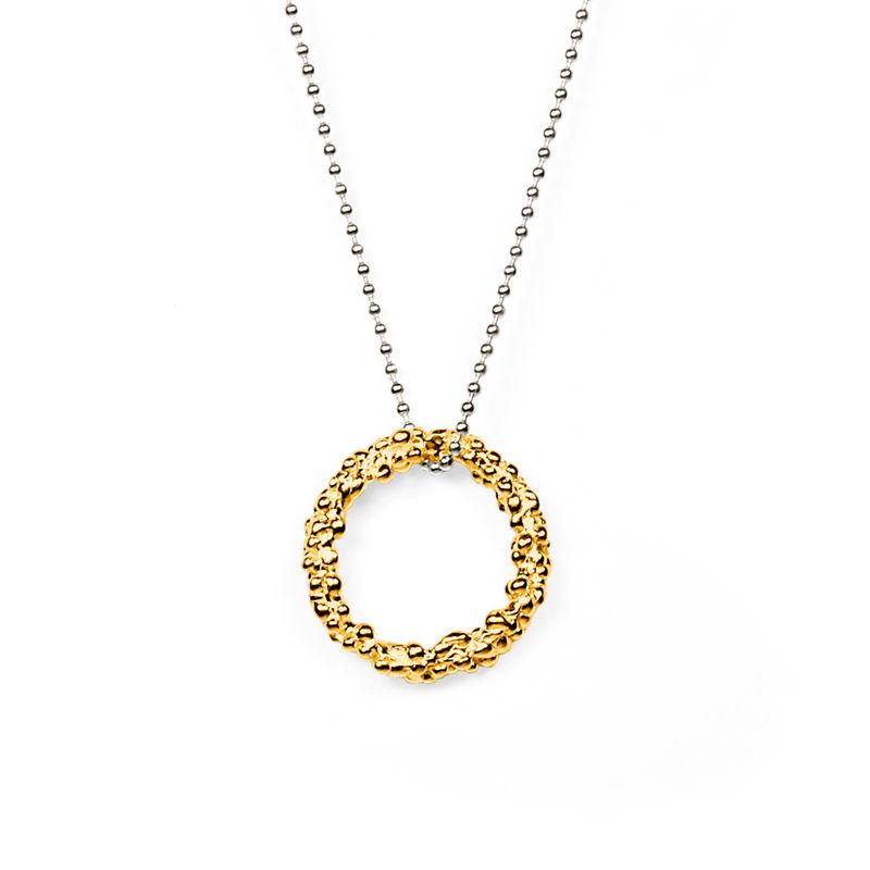 Organica circle pendant necklace gold militza ortiz jewellery organica circle pendant necklace gold product image aloadofball Images