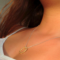 Organica Circle Pendant Necklace - Gold - product images 3 of 3