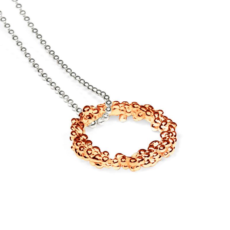 Organica circle pendant necklace rose gold militza ortiz organica circle pendant necklace rose gold militza ortiz jewellery online boutique aloadofball Images
