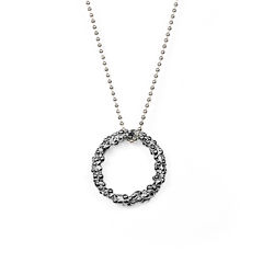Organica Circle Pendant Necklace - Black Rhodium - product images 1 of 3