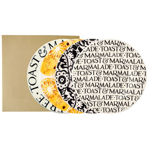 Set,4,Toast,and,Marmalade,Plates,by,Emma,Bridgewater,Toast and Marmalade Emma Bridgewater