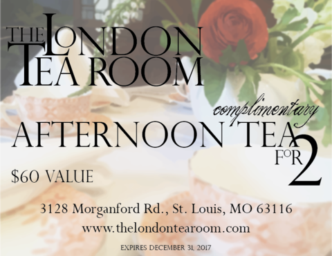 Afternoon,Tea,for,2,Gift,Certificate,The London Tea Room afternoon tea gift certificate