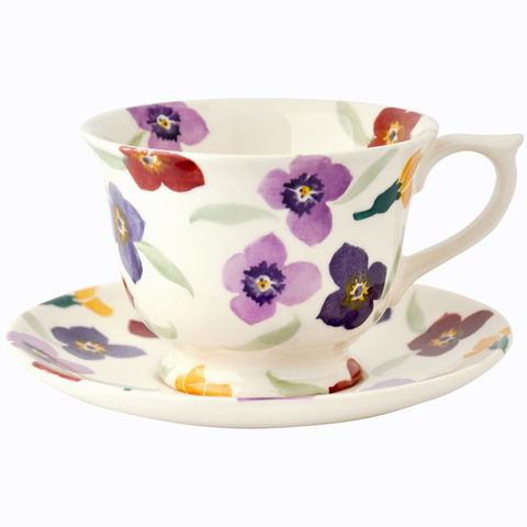 Wallflower,Large,Cup,and,Saucer,by,Emma,Bridgewatr,Emma_Bridgewater_Wallflower_Large_Cup_and_Saucer