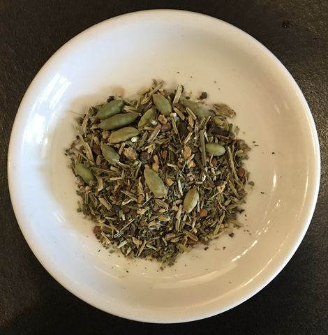 Holy,Basil,Chai,holy basil, chai, herbal, tea, Organic Holy Basil Rama, organic Cinnamon chips, organic Ginger root, organic Cardamom pods and seeds, organic Cloves, organic Fennel seeds, organic Vanilla beans, organic Long Pepper
