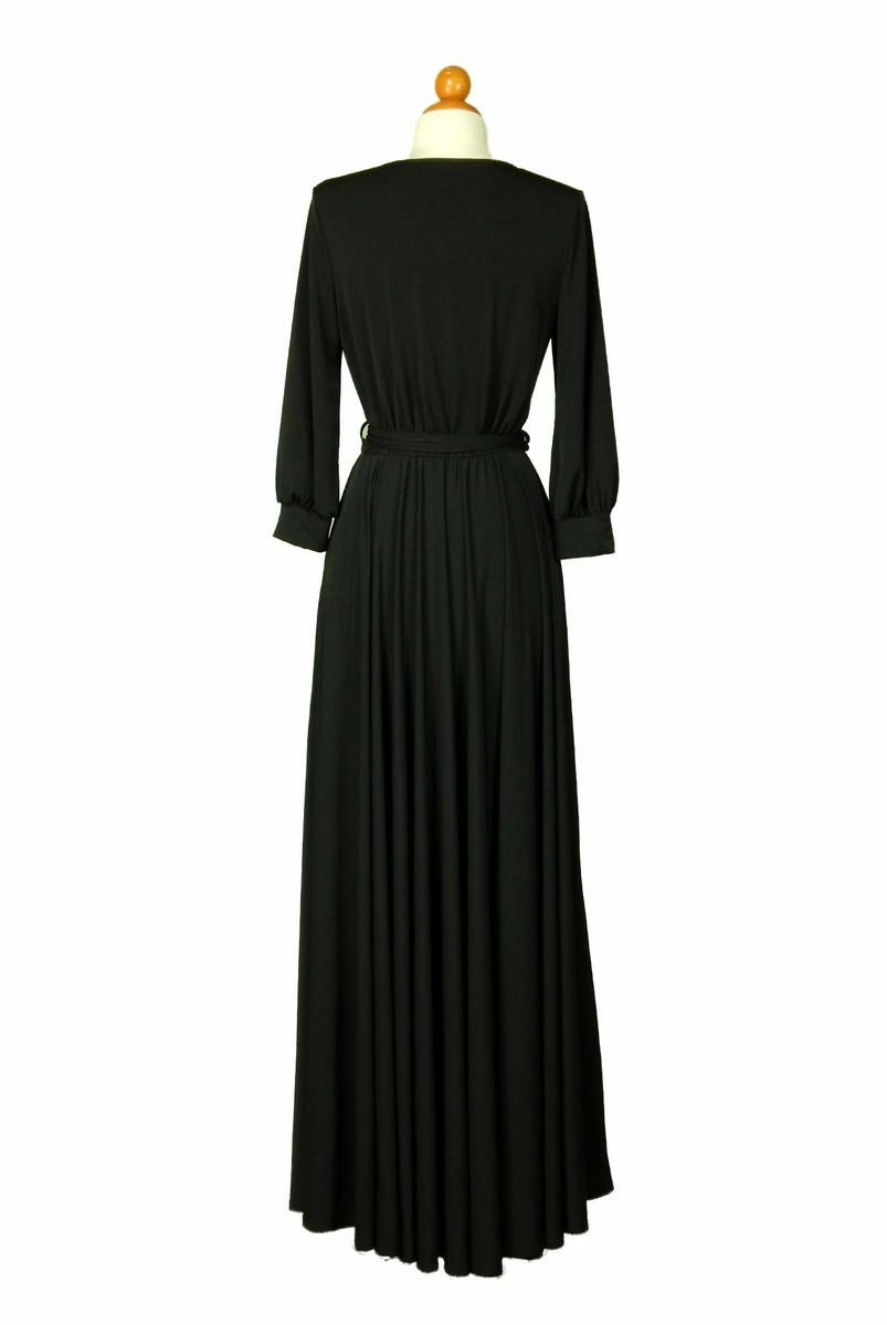 Black cuff sleeve dress