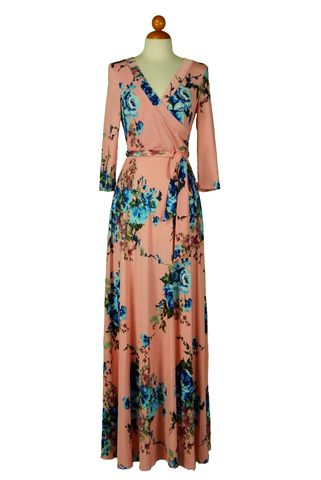 You,got,my,heart,in,pink,maxi,wrap,dress,red apparel, Janette fashion, You got my heart in pink maxi wrap dress , wrap dress