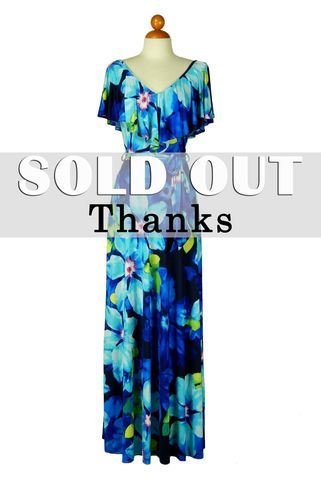 Floral,in,aqua,blue,v,neck,off,the,shoulder,maxi,dress,red apparel, Janette fashion,Floral in aqua blue v neck off the shoulder maxi dress, strap dress
