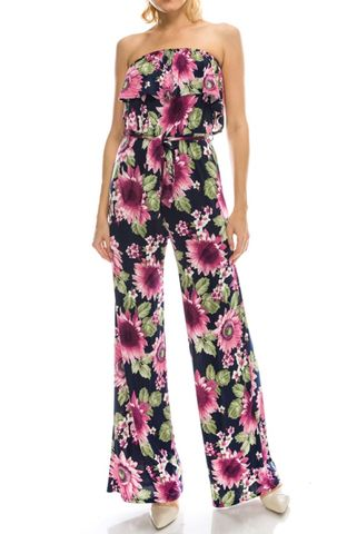Sunflower,in,pink,ruffle,jump-suit,Sunflower in pink ruffle jump-suit  , red apparel, janette fashion, Janette fashion jumpsuit, Janette jumpsuitjamper