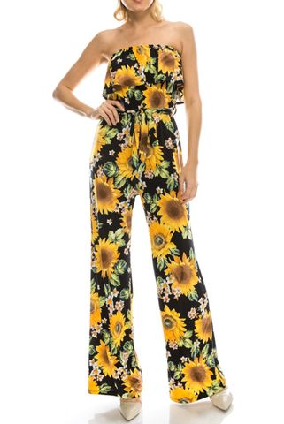 Bright,sunflower,jump-suit,Bright sunflower jump-suit , red apparel, janette fashion, Janette fashion jumpsuit, Janette jumpsuitjamper