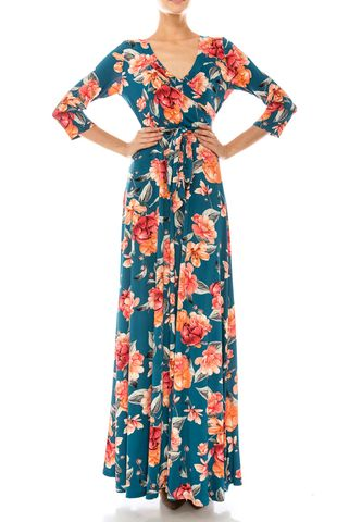 Magnolia,garden,in,till,blue,maxi,wrap,dress,Magnolia garden in till blue maxi wrap dress , redapparelonline, 6ws, Janette fashion, Janette, Maxi wrap dress, wrap dress, work dress, vacation dress, affordable wrap dress