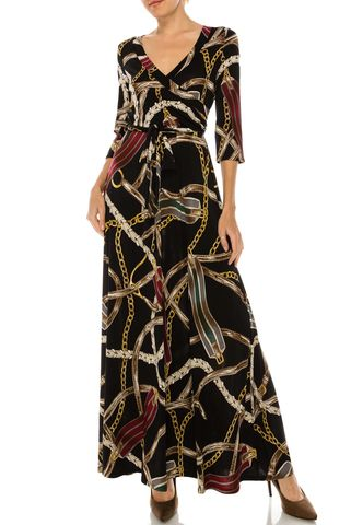 Roman,print,maxi,wrap,dress,Versace print in deep wine maxi wrap dress , red apparel, redapparelonline, 6ws, Janette fashion, Janette, Maxi wrap dress, wrap dress. work dress, vacation dress, affordable dress