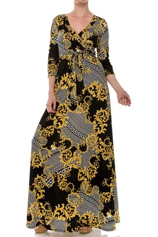 Versace,print,maxi,wrap,dress,Versace print maxi wrap dress , red apparel, redapparelonline, 6ws, Janette fashion, Janette, Maxi wrap dress, wrap dress. work dress, vacation dress, affordable dress