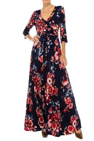 Autumn,banquet,in,navy,maxi,wrap,dress,Autumn banquet in navy maxi wrap dress  , redapparelonline, 6ws, Janette fashion, Janette, Maxi wrap dress, wrap dress, work dress, vacation dress, affordable wrap dress