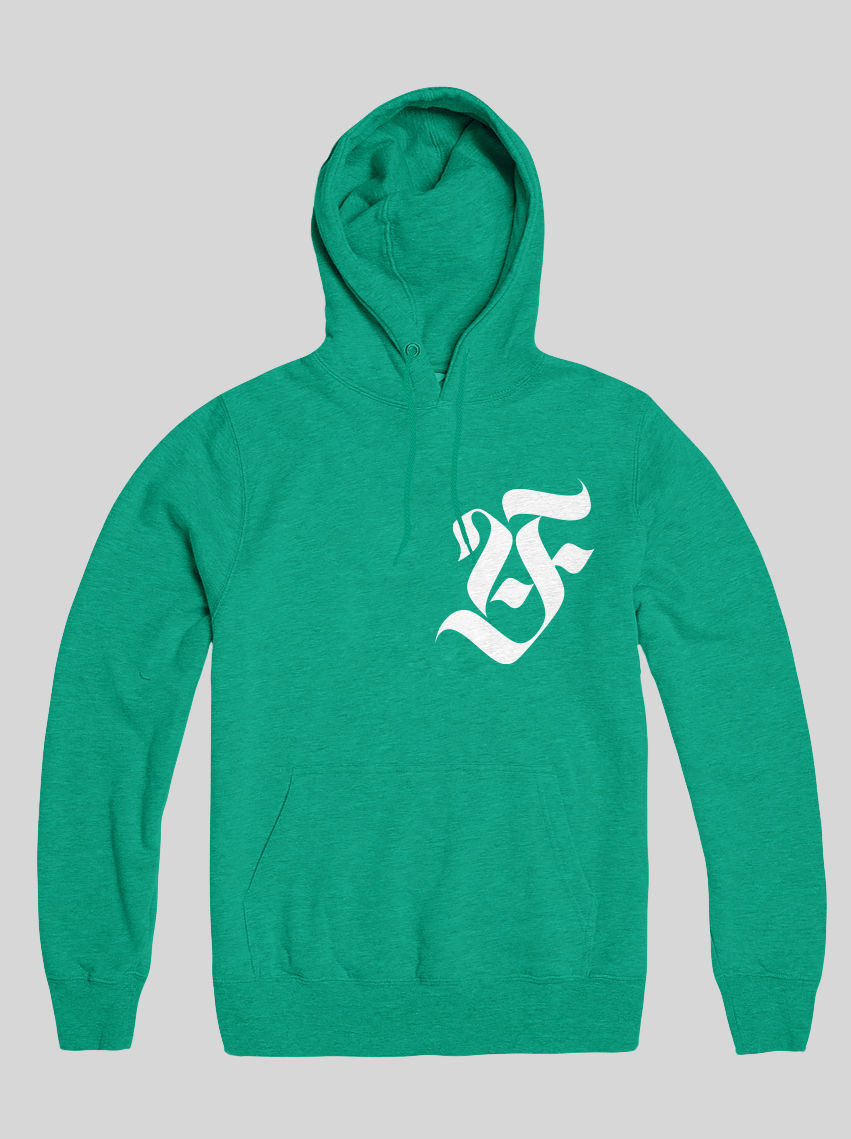 AnyForty Idents - Art Is Our Weapon - Mint Green Pullover Hoody - product images  of