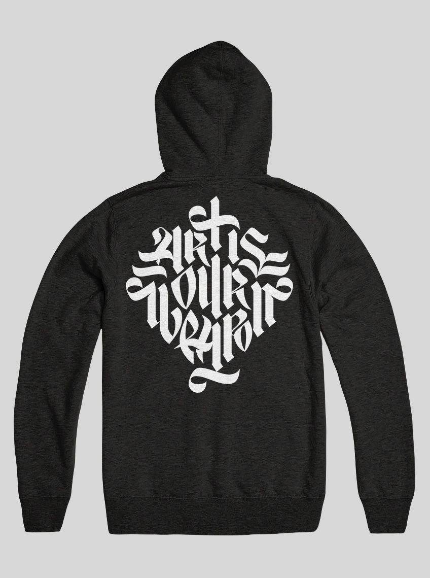 AnyForty Idents - Art Is Our Weapon - Black Pullover Hoody - product images  of