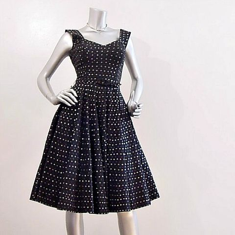 50s,Mexican,Full,Circle,Skirt,Sequin,Dress,XS,Small,Vintage,Clothing,mexican,sequins,full_skirt,circle_skirt,1950s_50s,party,dance,black,bones,vlv_viva_las_vegas,rockabilly,pinup,vfg,cotton,metal_zipper, prettysweetvintage, sweetiepievintage, sweetie pie vintage