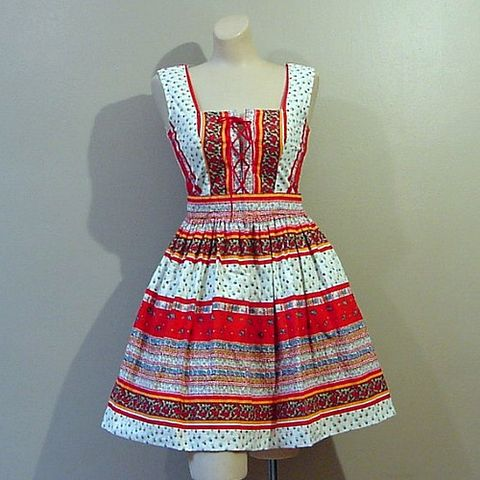 70s,Little,Heidi,Corset,Front,Mini,Dress,XS,Small,Vintage,Clothing,loungees,1970s_70s,mini,short,floral,heidi,corset,full_skirt,bright,sun,summer,vfg,cotton,lacing,polyester_zipper, prettysweetvintage, sweetiepievintage, sweetie pie vintage