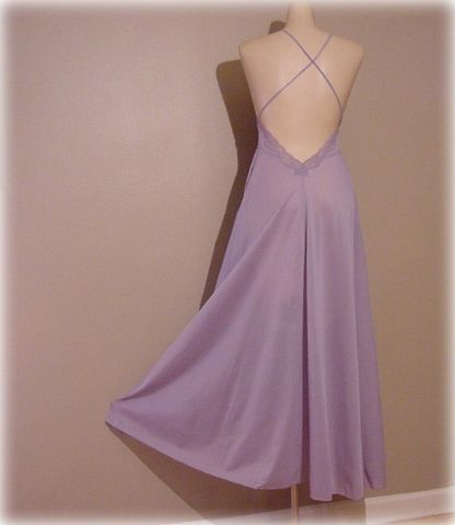 70s,80s,Lily,of,France,Amethyst,Nightgown,X,Small,XS,vintage,clothing,lingerie,lily_of_france,rosa_puleo_szule,gown,nightgown,long,purple,lavender,empire,lace,1970s,vfg_member_team,nylon, pretty sweet vintage, sweetiepievintage, sweetie pie vintage, pleasurequeen