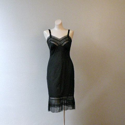 50s,60s,After,Midnight,Full,Slip,34,Vintage,Clothing,Lingerie,1950s,black,pleats,lace,flounce,Kel_Ray,sheer,sexy,Mad_Men,curvy,vfg,nylon,chiffon, pretty sweet vintage, sweetiepievintage, sweetie pie vintage, pleasurequeen