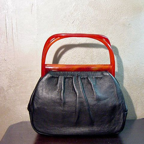 50s,Black,Leather,and,Tortoise,Handbag,1950s, 50s, vintage, Mad Men, purse, bag, handbag, tortoiseshell, tortoise shell, plastic, lucite, leather, black, prettysweetvintage, sweetiepievintage, sweetie pie vintage