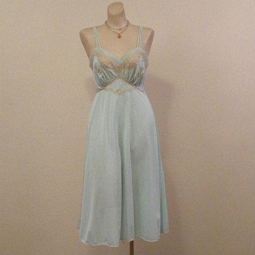 40s 50s Silky Mermaid Van Raalte Gown Small - Pretty Sweet Vintage