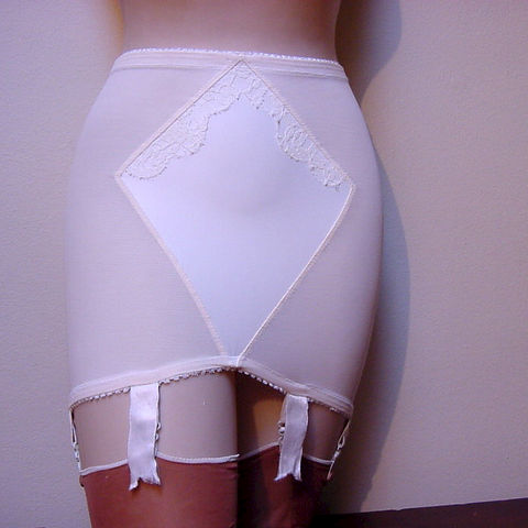 60s,Lily,of,France,OB,Girdle,S/M,1960s, 60s, vintage, retro, pin-up, cos-play, girdle, Lily of France, Enhance, open bottom, lace, garters, pleasurequeen