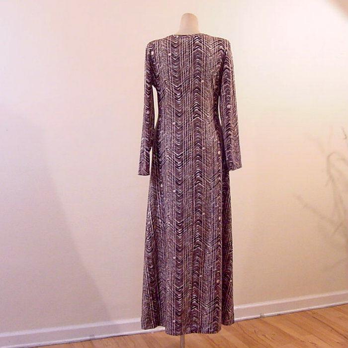 70s Slinky Diane Von Furstenberg Maxi Dress 42b/34w - Pretty Sweet ...