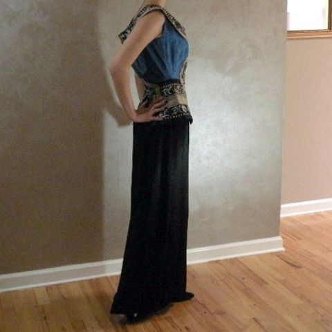 40s,Stunning,Silk,Oriental,Goddess,Dress,36b/25w,1940s, 40s, vintage, dress, gown, evening gown, party, silk, linen, embroidered, embroidery, butterflies, flowers, middle eastern, oriental, off shoulder, pretty sweet vintage, sweetiepievintage, sweetie pie vintage