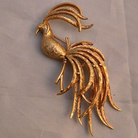 60s,Bird,of,Paradise,Pin,1960s, 60s, vintage, Avon, Bird of Paradise, rare, collector, book piece, rose gold, gold, figural fancy, gift, pin, brooch, prettysweetvintage, sweetiepievintage, sweetie pie vintage