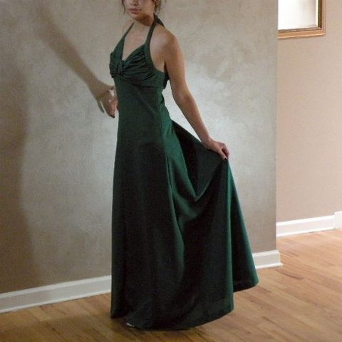 70s,Emerald,Jewel,Dress,34b/29w, 1970s, emerald green, jewel, long, maxi, dress, evening, party, halter, ruched, vintage, christmas, holiday, prettysweetvintage, sweetiepievintage, sweetie pie vintage