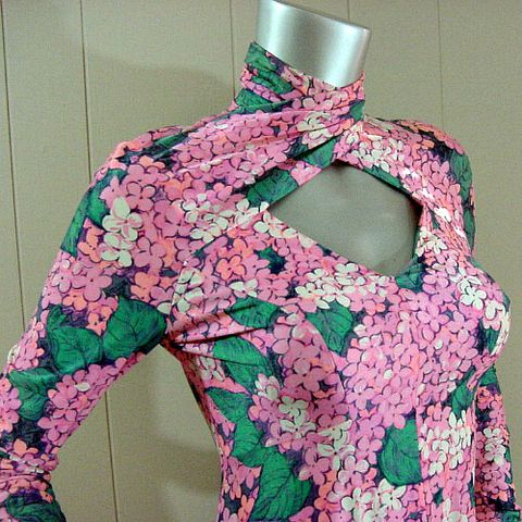 70s,Fabulous,Floral,Robert,David,Morton,Long,Dress,34b/30w,1970s, 70s, vintage, dress, long, maxi, robert david morton, floral, flowers, jersey, ruched, twisted, bergdorf goodman, saks, clingy, shimmer, signature, party, prettysweetvintage, sweetiepievintage, sweetie pie vintage