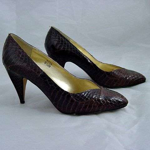 80s,Brown,Snakeskin,J,Renee,High,Heel,Shoes,5.5M,1980s, 80s, vintage, brown, dark brown, snakeskin, snake skin, reptile, j renee, sculpted, shoes, high heel, sweetiepievintage, sweetie pie vintage, prettysweetvintage