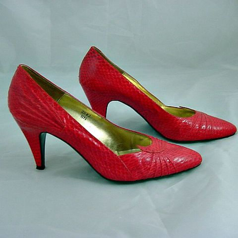 80s,Red,Snake,Reptile,J.,RENEE,Shoes,8N,1980s, 80s, vintage, red, snake, reptile, J Renee, shoes, heels, high heels, sweetiepievintage, sweetie pie vintage, prettysweetvintage