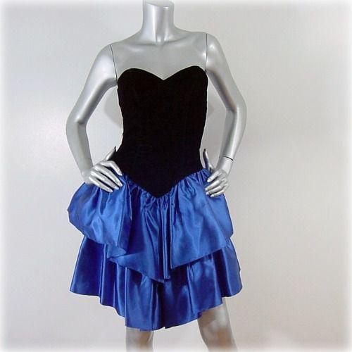 80s Strapless Dress