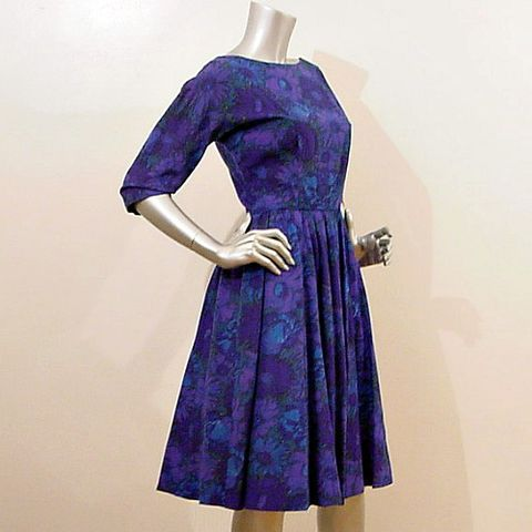60s,Deep,Floral,Jerry,Gilden,Dress,36b/26w,jerry gilden, spectator, 60s, 1960s, vintage, full skirt, party, dance, floral, purple, blue, mad men, 50s, 1950s, dress, prettysweetvintage, sweetie pie vintage, sweetiepievintage