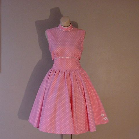 60s,Sugar,Sweet,Dress,38b/28w,1960s, 60s, 1950s, 50s, vintage, retro, dress, party, summer, pink, dotted, flocked, full skirt, prettysweetvintage, sweetie pie vintage, sweetiepievintage