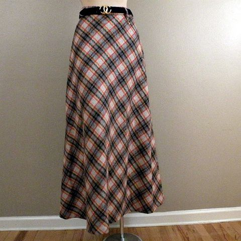 70s,Fireside,Chat,Maxi,Skirt,28w,1970s, 70s, vintage, skirt, maxi, wool, plaid, Picadilly, new with tags, new, prettysweetvintage, sweetiepievintage, sweetie pie vintage