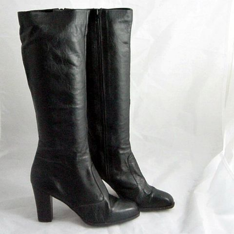 70s,Black,Leather,Knee,High,Brazil,Boots,8,1970s, 70s, vintage, boots, knee high, black, leather, made in brazil, brazilian, stacked, size 8, prettysweetvintage, sweetiepievintage, sweetie pie vintage