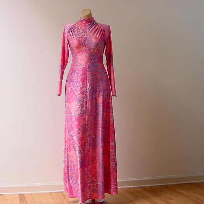 70s Robert David Morton Maxi Dress Small 34b/28w - Pretty Sweet Vintage