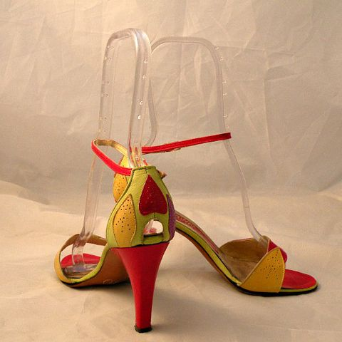70s,80s,Fresh,Fruit,D'Antonio,High,Heel,Shoes,8.5,vintage, 1980s, 80s, 1970s, 70s, shoes, high heels, stilettos, D'Antonio, peep toe, peek-a-boo, strappy, ankle straps, fruit, fruity, citrus, sexy, dance, party, sweetiepievintage, sweetie pie vintage, prettysweetvintage