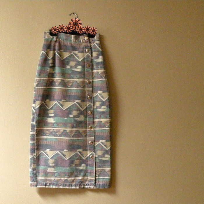 SALE! 80s Desert Dreams Denim Skirt    25w - product image