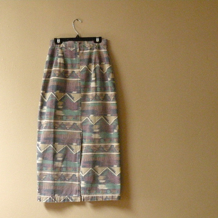 80s Desert Dreams Denim Skirt    25w - product image