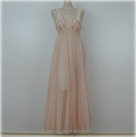 70s,Sheerest,Sexiest,Pandora,by,Chic,Sweeping,Gown,Nightgown,38,Bust,vintage,clothing,lingerie,pandora,gown,nightgown,sweeping,sheer,sexy,1970s,peach,vfg_member_team,pandora_by_chic,nylon, pretty sweet vintage, sweetiepievintage, sweetie pie vintage
